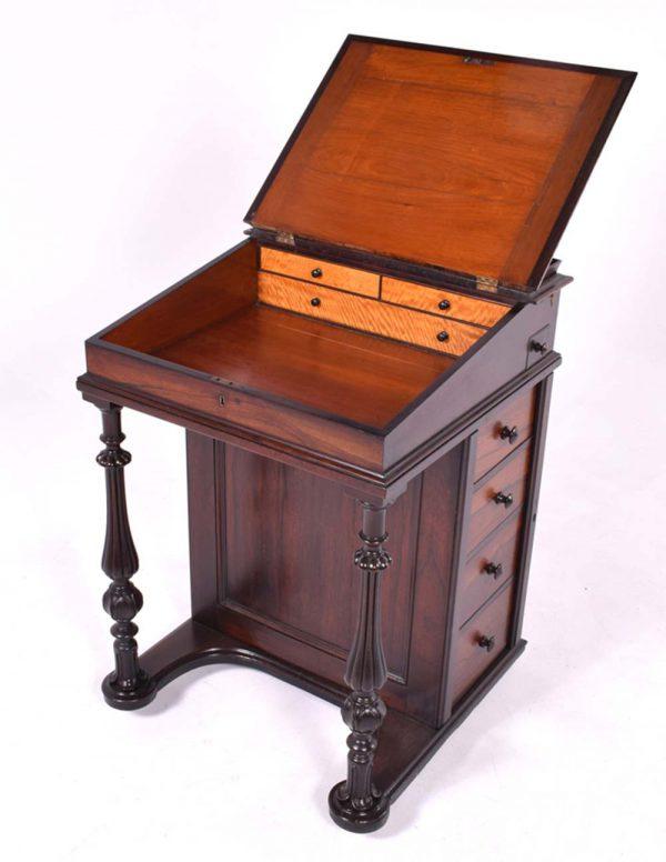 Escrivaninha em Pau Santo de época Vitoriana -4