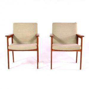 Par de Cadeiras de Braços fabricadas por O.D.Møbler - 1
